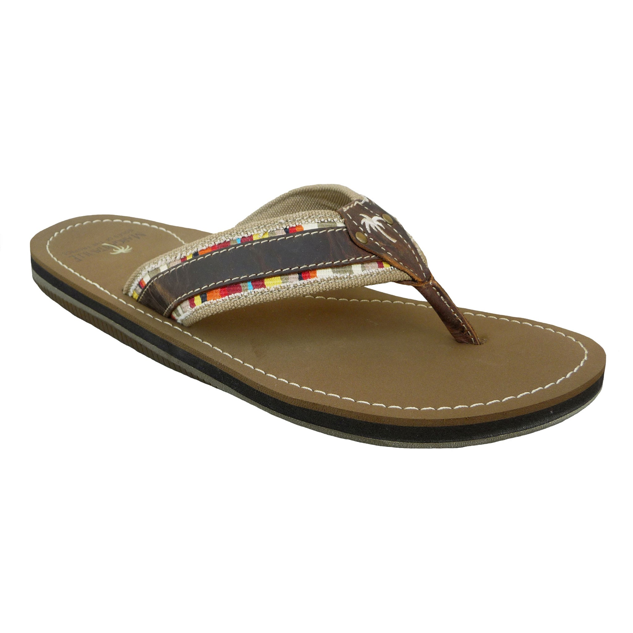 flip-flop (flĭp′flŏp′) n. 1. The movement or sound of repeated flapping. 2. A reversal, as of a stand or position: a foreign policy flip-flop. 3. A backless, often foam rubber sandal held to the foot at the big toe by means of a thong. 4. A backward somersault or handspring. 5. An electronic circuit or mechanical device capable of assuming either.