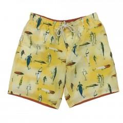 Fish Hook Swim Trunk - Yellow