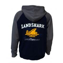 Landshark Fleece Hoodie - Navy/Gray