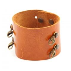 Leather Cuff Bracelet - Mango