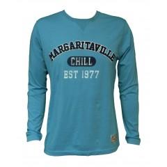 Margaritaville Chill Long Sleeve Tee - Coastal Blue