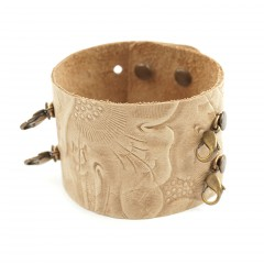 Leather Cuff Bracelet - Natural
