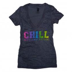 Chill Burn V-neck - Gray